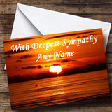 Beautiful Sunset Customised Sympathy / Sorry For Your Loss Card