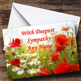 Poppy Customised Sympathy / Sorry For Your Loss Card