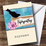 Customised Signpost Watercolour Bird Sympathy Sympathy Card