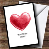 Customised Thinking Of You Painted Heart Sympathy Card