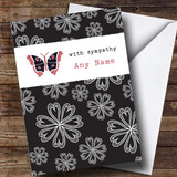 Customised With Sympathy Butterfly Sympathy Card
