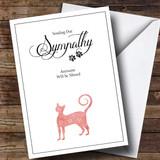 Customised Pet Sympathy Cat Sympathy Card