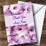 Stunning Purple Petals Customised Thank You Card