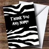 Zebra Print Customised Thank You Card