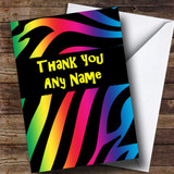 Tiger Animal Print Customised Thank You Card