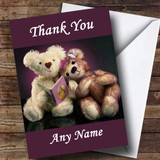 Purple Teddy Bears Customised Thank You Card
