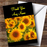 Beautiful Sunflowers Customised Thank You Card