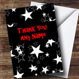 Black And White Stars Customised Thank You Card