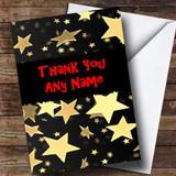 Gold Stars Customised Thank You Card