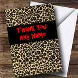 Leopard Print Customised Thank You Card