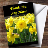 Daffodils Customised Thank You Card