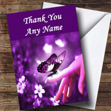 Purple Butterfly Customised Thank You Card