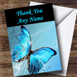 Blue Butterfly Customised Thank You Card