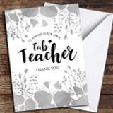 Floral Fab Teacher Customised Thank You Card