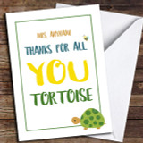 Funny Thank You Tortoise Customised Thank You Card