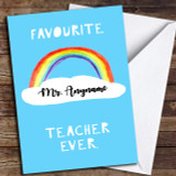 Rainbow Favourite Ever Customised Thank You Card