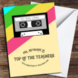 Retro Top Of The Pops Teacher Customised Thank You Card