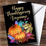 Golden Pumpkin Customised Thanksgiving Card