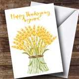 Harvest Bouquet Customised Thanksgiving Card