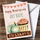 Pumpkin & Plant Customised Thanksgiving Card