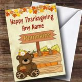 Pumpkin Bear Customised Thanksgiving Card
