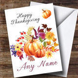 Pumpkin Floral Customised Thanksgiving Card