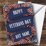Vintage Stars & Stripes Customised Veterans Day Card