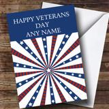 White Stars & Stripes Customised Veterans Day Card