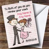 Pink Love Script Customised Renewal Of Vows Card
