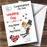 Hearts Bride & Groom Customised Renewal Of Vows Card