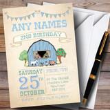 Boys Farm Animals Children's Birthday Party Invitations