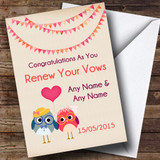 Bunting & Owls Customised Renewal Of Vows Card