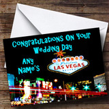 Las Vegas Customised Wedding Day Card