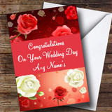 Roses Customised Wedding Day Card