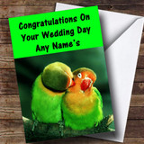 Parrots Customised Wedding Day Card