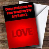 Love Word Customised Wedding Day Card