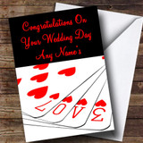 Love Playing Cards Customised Wedding Day Card