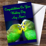 Love Birds Customised Wedding Day Card