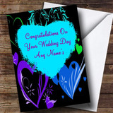 Love Hearts Romantic Customised Wedding Day Card