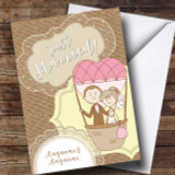 Couple Balloon Wedding Day Customised Card