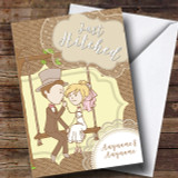 Couple Swing Wedding Day Customised Card