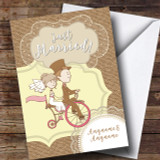 Couple Bike Wedding Day Customised Card
