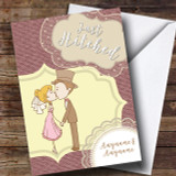 Couple Kiss Wedding Day Customised Card