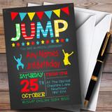 Chalk Boys Jump Trampoline Children's Birthday Party Invitations