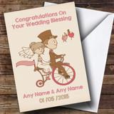 Pretty Vintage Bike Customised Wedding Blessing Card