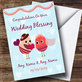 Pretty Romantic Owls Customised Wedding Blessing Card