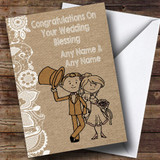 Burlap & Lace Customised Wedding Blessing Card