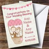 Air Balloon Customised Wedding Blessing Card