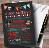 Chalk Effect Pirate Bunting Children's Birthday Party Invitations