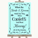 Aqua Confetti Customised Wedding Sign